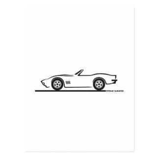 Corvette cabriolet 1970-72 vykort