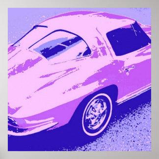 Corvette kluvet fönster posters