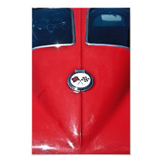 Corvette kluvet fönster fotontryck