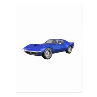 Corvette sportbil 1970: Blåttfullföljande Vykort