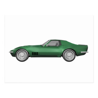 Corvette sportbil 1970: Grönt fullföljande Vykort