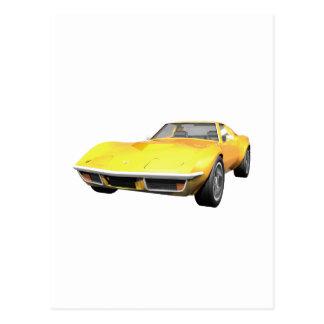 Corvette sportbil 1970: Gult fullföljande Vykort