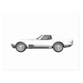 Corvette sportbil 1970: Vitfullföljande Vykort