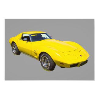 Corvette Stingraysportbil 1975 Fototryck