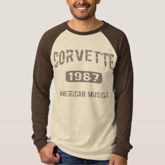 Corvette T skjorta 1987 T-shirts
