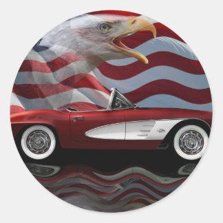 Corvette Tribute 1961 Runt Klistermärke