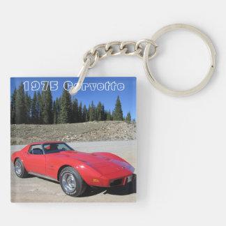 Corvette tvåsidig nyckelring 1975