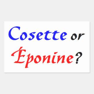 Cosette Les Miserables Rektangulärt Klistermärke