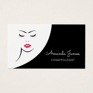 Cosmetologist för läppar för modern svart visitkort