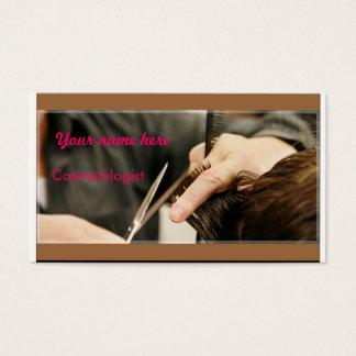 Cosmetologistvisitkortar Visitkort