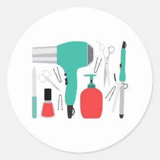 Cosmetologyverktyg Runt Klistermärke