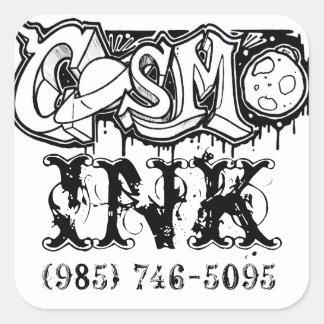 Cosmo bläckklistermärke fyrkantigt klistermärke