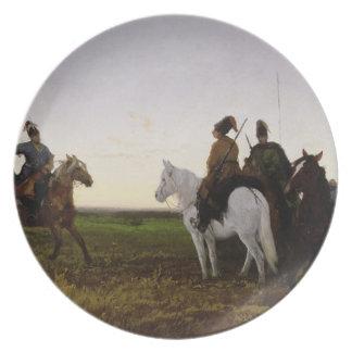 Cossacks på hästryggen, 1874 (olja på kanfas) tallrikar