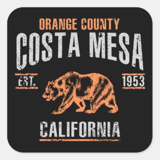 Costa Mesa Fyrkantigt Klistermärke