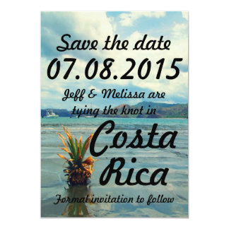 Costa Rica destinationsbröllop spara datum 12,7 X 17,8 Cm Inbjudningskort