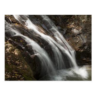 Costa Rica Fast flödande vattenfall Vykort