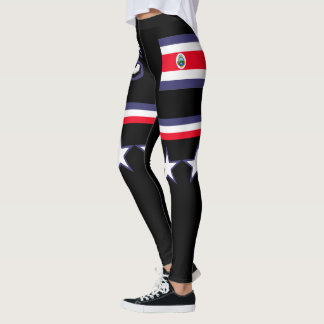Costa Rica flagga Leggings