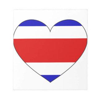 Costa Rica flaggahjärta Anteckningsblock