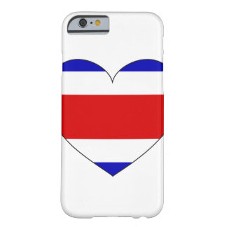 Costa Rica flaggahjärta Barely There iPhone 6 Fodral
