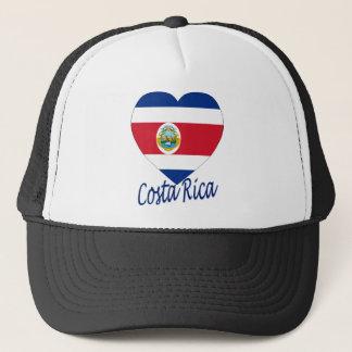 Costa Rica flaggahjärta Truckerkeps