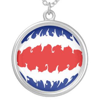 Costa Rica Gnarly flagga Anpassningsbara Smycken