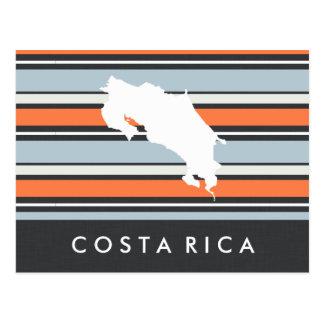 Costa Rica karta: Moderna randar Vykort