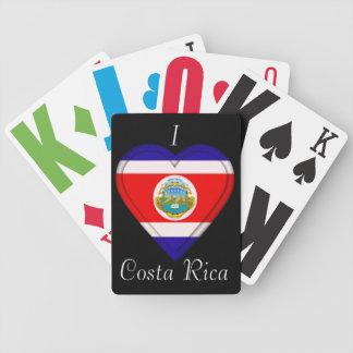 Costa Rica kostar den Rican flagga Spelkort