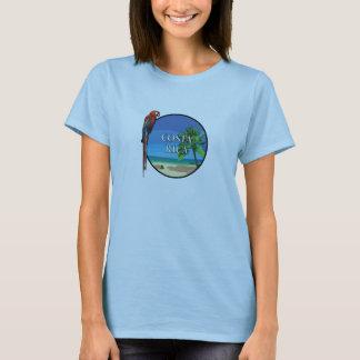 Costa Rica - kvinna grundläggande T-tröja T-shirts