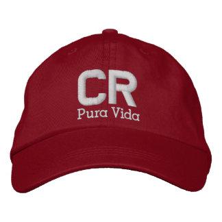 Costa Rica Pura Vida lock/hatt Broderad Keps