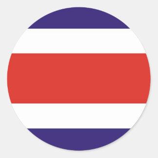 Costa Rica Runt Klistermärke