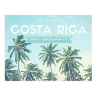 Costa Rica som gifta sig den tropiska stranden, Vykort