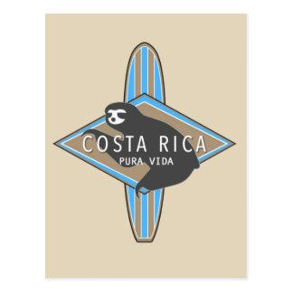 Costa Rica som surfar Slothvykortet Vykort