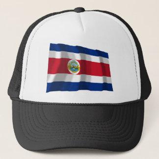 Costa Rica som vinkar flagga Truckerkeps