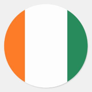 Cote D ` Ivoire Runt Klistermärke