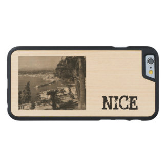 "COTE D'AZUR - trevlig ""promenaddes Anglais"" 1950 Carved Lönn iPhone 6 Slim Skal"