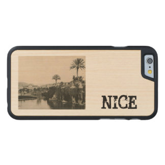 Cote d'Azur trevligt Lakasino 1910 Carved Lönn iPhone 6 Skal