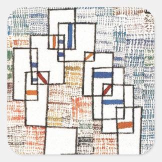 Cote de provence av Paul Klee Fyrkantigt Klistermärke