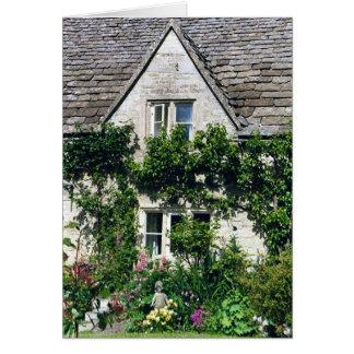Cotswold stuga & trädgård hälsningskort