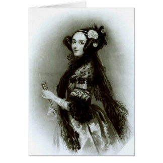 Countess för Augusta Ada Byron av Lovelace Hälsningskort