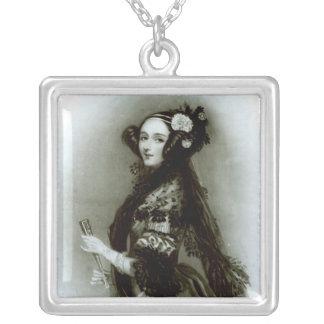 Countess för Augusta Ada Byron av Lovelace Silverpläterat Halsband