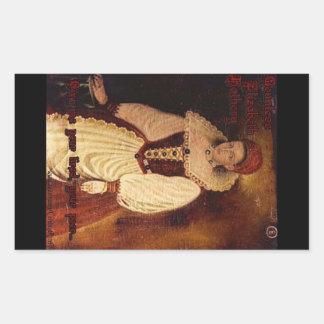 CountessElizabeth Bathory-Ge mig ditt trött…., Rektangulärt Klistermärke