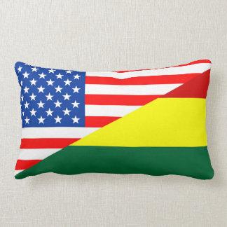 countr för United States Amerika bolivia halv Lumbarkudde