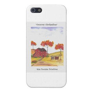 CountryClothesline original- vattenfärgmålning iPhone 5 Cover