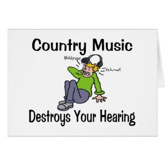 Countrymusik Hälsningskort
