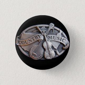 countrymusik mini knapp rund 3.2 cm