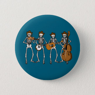 Countrymusik som leker skelett standard knapp rund 5.7 cm