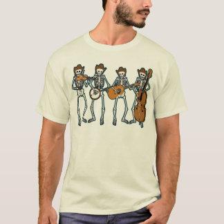 Countrymusik som leker skelett t-shirt