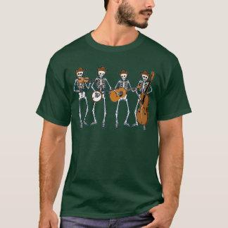 Countrymusik som leker skelett t shirt
