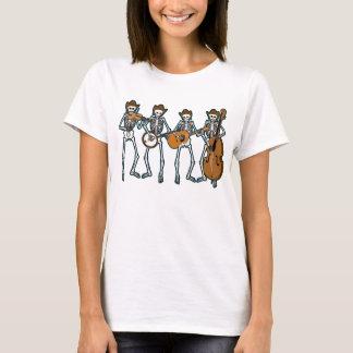 Countrymusik som leker skelett tee shirts