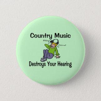 Countrymusik Standard Knapp Rund 5.7 Cm